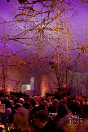 Flame resistance for tree branch decor for Metropolitan Opera Opening Gala